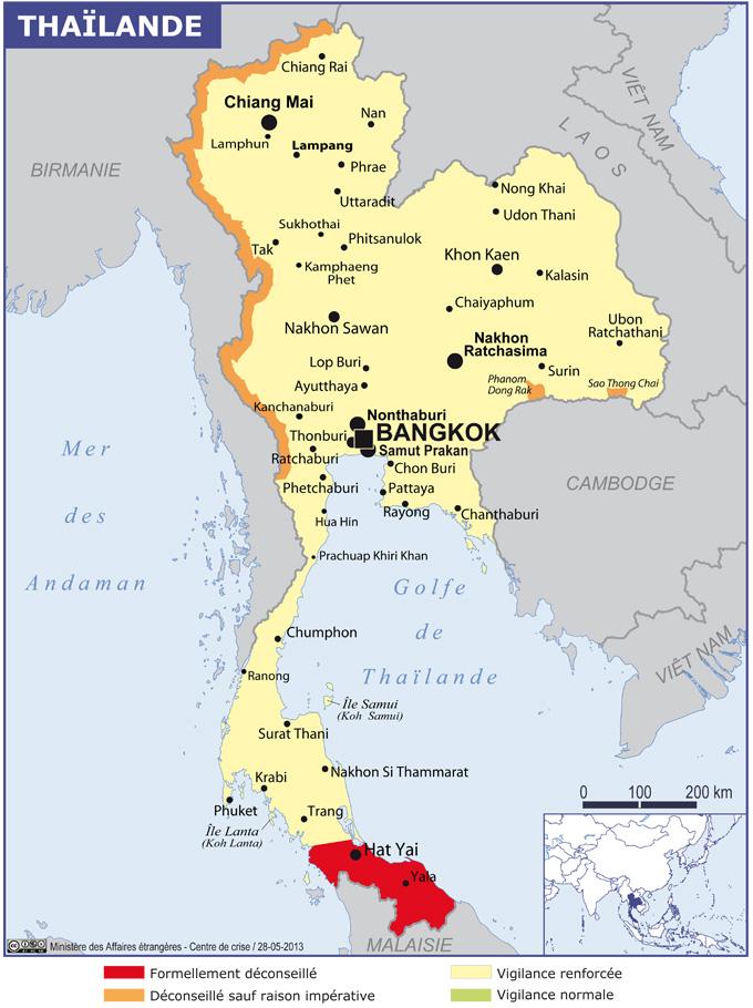 Quel sont les risques en Thaïlande ?