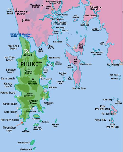 Les plus belles iles autour de Phuket